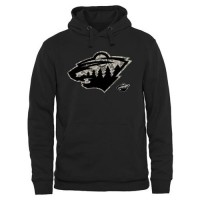 Men's Minnesota Wild Black Rink Warrior Pullover Hoodie