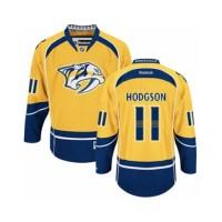 Men's Nashville Predators #11 Cody Hodgson Gold Home NHL Jersey