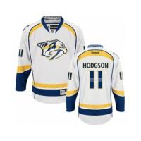 Men's Nashville Predators #11 Cody Hodgson White Away NHL Jersey