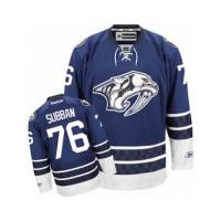Men's Nashville Predators #76 P.K Subban Blue Third NHL Jersey