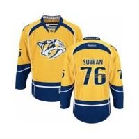 Men's Nashville Predators #76 P.K Subban Gold Home NHL Jersey