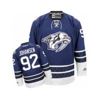 Men's Nashville Predators #92 Ryan Johansen Blue Third NHL Jersey