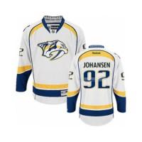 Men's Nashville Predators #92 Ryan Johansen White Away NHL Jersey