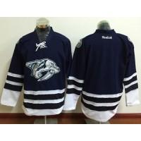 Men's Nashville Predators Blank Blue Third Stitched NHL Jersey