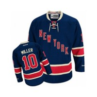 Men's New York Rangers #10 J.T. Miller Premier Navy Blue Third NHL Jersey
