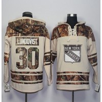 Men's New York Rangers #30 Henrik Lundqvist Cream Camo Stitched NHL Jersey