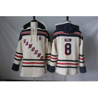 Men's New York Rangers #8 Kevin Klein Cream Sawyer Hooded Sweatshirt Stitched NHL Jersey