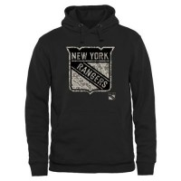 Men's New York Rangers Black Rink Warrior Pullover Hoodie