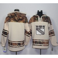 Men's New York Rangers Blank Cream Camo Stitched NHL Jersey