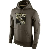 Men's New York Rangers Nike Salute To Service NHL Hoodie
