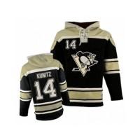 Men's Old Time Hockey Pittsburgh Penguins #14 Chris Kunitz Premier Black Sawyer Hooded Sweatshirt