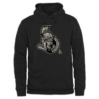 Men's Ottawa Senators Black Rink Warrior Pullover Hoodie