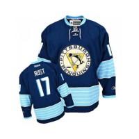 Men's Pittsburgh Penguins #17 Bryan Rust Navy Blue Third Vintage NHL Jersey
