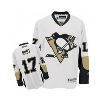 Men's Pittsburgh Penguins #17 Bryan Rust White Stitched NHL Jersey
