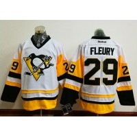 Men's Pittsburgh Penguins #29 Andre Fleury White New Away Stitched NHL Jersey