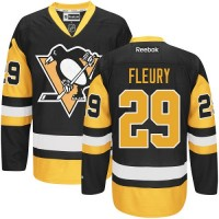 Men's Pittsburgh Penguins #29 Marc-Andre Fleury Reebok Black Premier Jersey
