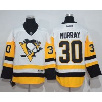 Men's Pittsburgh Penguins #30 Matt Murray White New Away Stitched NHL Jersey