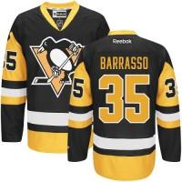 Men's Pittsburgh Penguins #35 Tom Barrasso Reebok Black Premier Jersey