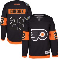 Men's Reebok Philadelphia Flyers #28 Claude Giroux Black 2017 Stadium Series Stitched NHL Jersey