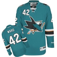 Men's San Jose Sharks #42 Joel Ward  Teal Green Home Jersey