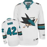 Men's San Jose Sharks #42 Joel Ward  White Away Jersey