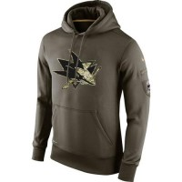 Men's San Jose Sharks Nike Salute To Service NHL Hoodie