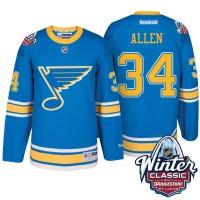 Men's St. Louis Blues #34 Jake Allen Blue 2017 Winter Classic Stitched NHL Jersey