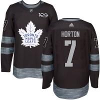 Men's Toronto Maple Leafs #7 Tim Horton Black 1917-2017 100th Anniversary Stitched NHL Jersey
