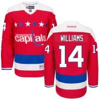 Men's Washington Capitals #14 Justin Williams Red Third Jersey