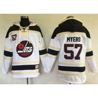 Men's Winnipeg Jets #57 Tyler Myers White Sawyer Hooded Sweatshirt Stitched NHL Jersey