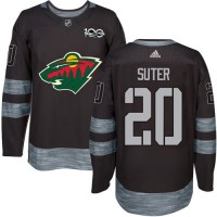Minnesota Wild #20 Ryan Suter Black 1917-2017 100th Anniversary Stitched NHL Jersey