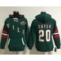 Minnesota Wild #20 Ryan Suter Green Women's Old Time Heidi NHL Hoodie