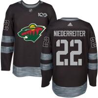 Minnesota Wild #22 Nino Niederreiter Black 1917-2017 100th Anniversary Stitched NHL Jersey