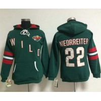 Minnesota Wild #22 Nino Niederreiter Green Women's Old Time Heidi NHL Hoodie
