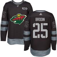 Minnesota Wild #25 Jonas Brodin Black 1917-2017 100th Anniversary Stitched NHL Jersey