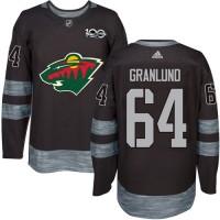 Minnesota Wild #64 Mikael Granlund Black 1917-2017 100th Anniversary Stitched NHL Jersey
