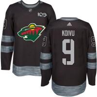 Minnesota Wild #9 Mikko Koivu Black 1917-2017 100th Anniversary Stitched NHL Jersey