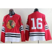 Mitchell And Ness 1960-61 Blackhawks #16 Marcus Kruger Red Throwback Stitched NHL Jersey