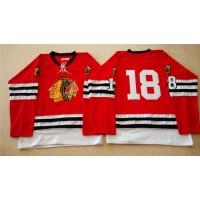 Mitchell And Ness 1960-61 Blackhawks #18 Denis Savard Red Stitched NHL Jersey