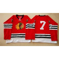 Mitchell And Ness 1960-61 Blackhawks #7 Chris Chelios Red Stitched NHL Jersey