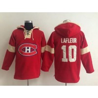 Montreal Canadiens #10 Guy Lafleur Red Pullover NHL Hoodie