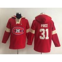 Montreal Canadiens #31 Carey Price Red Pullover NHL Hoodie
