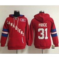 Montreal Canadiens #31 Carey Price Red Women's Old Time Heidi NHL Hoodie