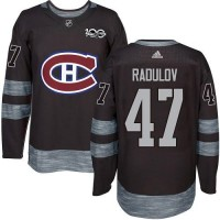 Montreal Canadiens #47 Alexander Radulov Black 1917-2017 100th Anniversary Stitched NHL Jersey