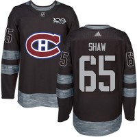 Montreal Canadiens #65 Andrew Shaw Black 1917-2017 100th Anniversary Stitched NHL Jersey