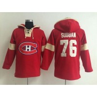 Montreal Canadiens #76 P.K Subban Red Pullover NHL Hoodie