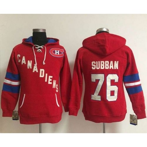 Montreal Canadiens  76 P.K Subban Red Women s Old Time Heidi NHL Hoodie 0bacdc96c