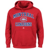 Montreal Canadiens Majestic Heart & Soul Hoodie Red