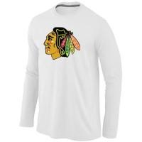 NHL Chicago Blackhawks Big & Tall Logo Long Sleeve T-Shirt White