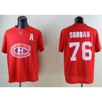 NHL Montreal Canadiens #76 P.K Subban Red T-Shirt
